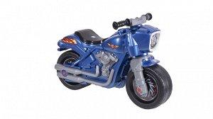 Мотоцикл (толокар) Мотобайк цв. перламутр. синий ,82*38*55 см