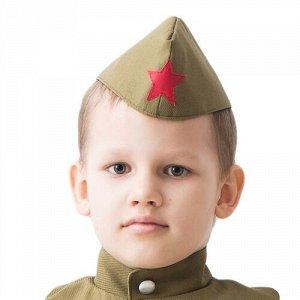 Пилотка военного детская р.55-56 см
