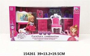 Кукла с набом мебели, кор.39*13,2*19,5 см