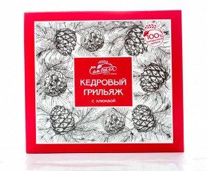 Кедровый грильяж в шоколадной глазури с клюквой 120 гр