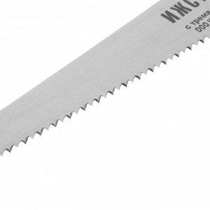 """Ножовка универсальная """"ИЖСТАЛЬ"""", с тремя сменными полотнами, 300 мм, шаг 4 мм, толщина 1 мм"""