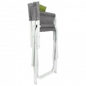 Кресло директорское серый/зеленый  Helios