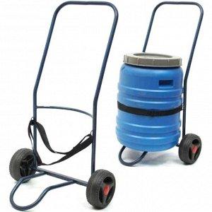 Тележка для перевозки бочек Водовоз 50л усиленное колесо, макс.нагрузка 70 кг