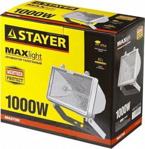 STAYER MAXLight прожектор  1000 Вт галогенный