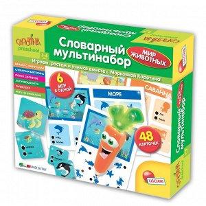 """Lisciani. Carotina Preschool. Игра развивающая """"Словарный мультинабор. Мир животных"""" арт.R63567"""