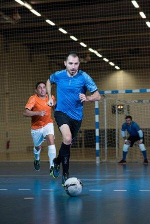 Футболка для футзала мужская синяя IMVISO