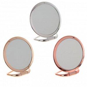 Зеркало настольное двустороннее с увеличением, L17 W7,5 H18,5 см, 3в.