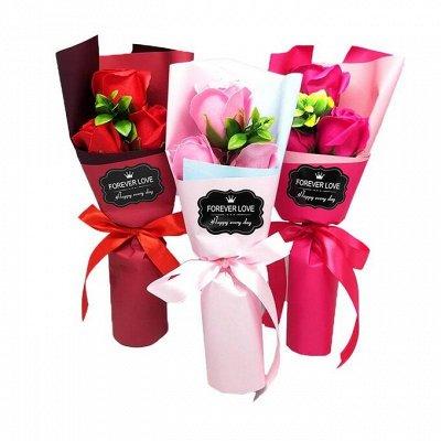Букеты роз из мыла 🌸 Готовим подарочки к праздникам — Милые подарки для близких — 8 марта и 23 февраля