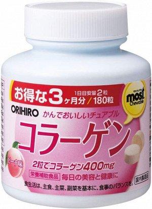 ORIHIRO Moist Chewable - жевательный коллаген со вкусом персика