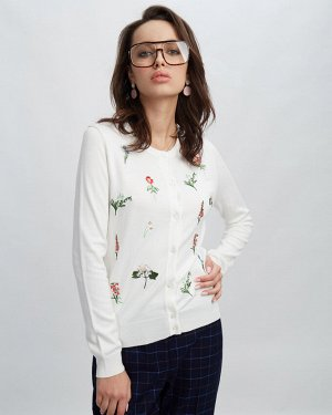Кардиган жен. (110602) белый натуральный