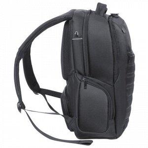 """Рюкзак для школы и офиса BRAUBERG """"Patrol"""", 20 л, размер 47х30х13 см, ткань, черный, 224444"""