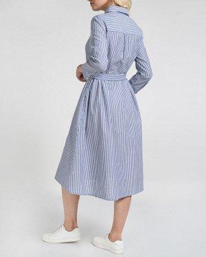 Платье жен. (001623)сине-белый