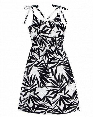 Платье жен. (002122) бело-черный