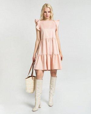 Платье жен. (141314) пепельно-персиковый