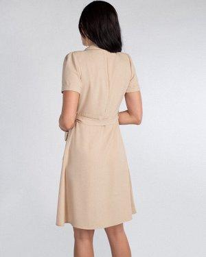 Платье жен. (151314)бежевый