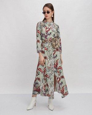 Платье жен. (006226)хаки-красный
