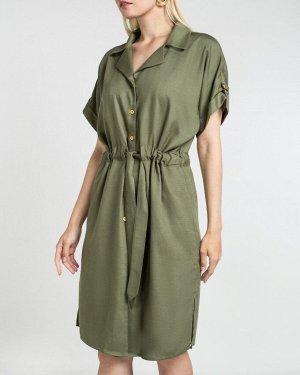 Платье жен. (180316)оливковый