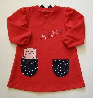 Платье для девочки Цвет:красный
