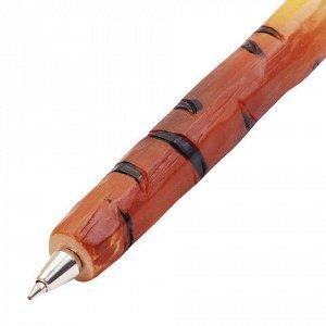 """Ручка фигурная """"ЖИВОТНЫЕ"""", СИНЯЯ, 4 дизайна ассорти, 0,5 мм, дисплей, BRAUBERG, 142777"""