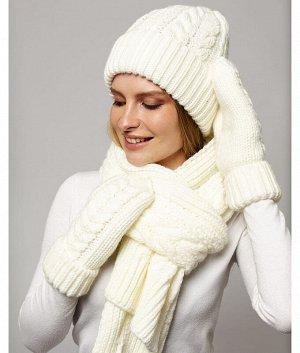 M 1043 S 1043 P 1043 флис (колпак+шарф+варежки) Комплект