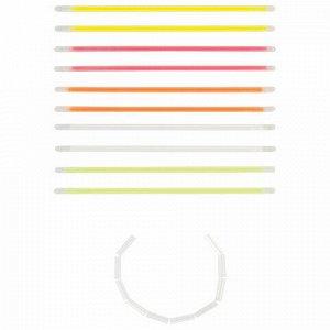 Светящиеся (неоновые) браслеты ЮНЛАНДИЯ, набор 10 штук в тубе, ассорти, 662094