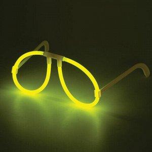 Светящиеся (неоновые) очки ЮНЛАНДИЯ, жёлтые, 662092