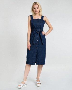 Сарафан джинсовый жен. (000030)Темно-синий