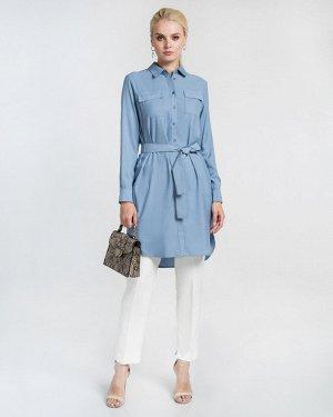 Платье жен. (174021) серо-голубой