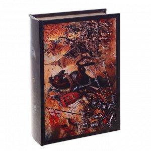 Шкатулка-книга с код. замком , L18 W7 H27 см, 2в