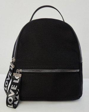 Рюкзак жен. (194006)черный, 22*19 см
