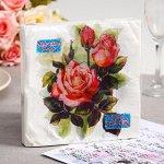 Салфетки бумажные New Line FRESCO Чайная роза, 3-слоя 20 листов 33*33