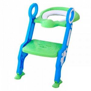 Сиденье-накладка для унитаза со ступенькой ST SM-HS3120/BG детское