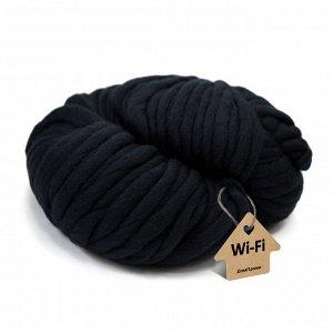 Пряжа крупная Wi-Fi. Цвет: черный