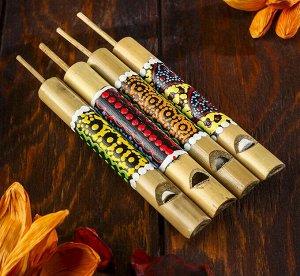 Свисток из бамбука с узором, МИКС