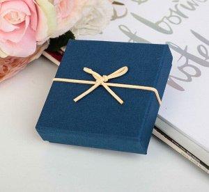 Коробка подарочная, синий, 10 х 10 х 3 см