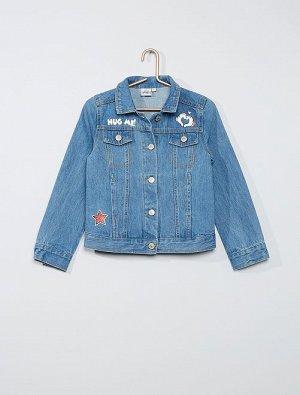 Джинсовая куртка с Минни Маус