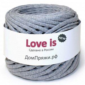 Трикотажная пряжа Love is NEW. Цвет: серый меланж