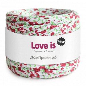 Трикотажная пряжа Love is NEW. Цвет: красные цветы принт