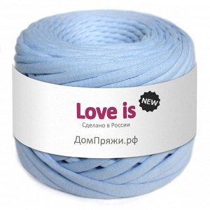 Трикотажная пряжа Love is NEW. Цвет: небесный