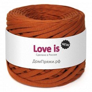Трикотажная пряжа Love is NEW. Цвет: ореховый