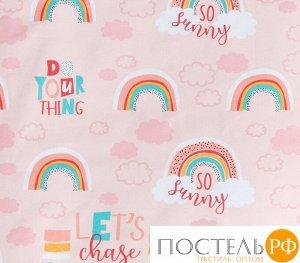"""Покрывало """"Этель"""" 1,5 сп Pink Rainbow, 145*210 см, 100% хлопок   4797425"""