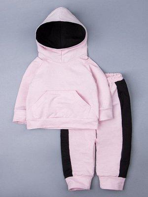 Костюм детский: худи + штаны, розовый