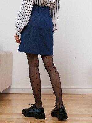Юбка Алиса Юбка Алиса  Состав: 95% Хлопок 5% Эластан Другие свойства: : Стильная юбка из джинсового полотна. Особенности модели: Модель А-силуэта на притачном поясе. По переду декоративные швы с имит