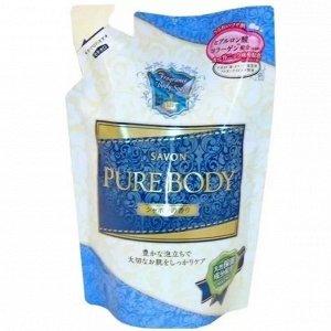 """300134 """"Mitsuei"""" """"Pure Body"""" Увлажняющий гель для душа с гиалуроновой кислотой, коллагеном и экстрактом алоэ с ароматом свежести (мягкая экономичная упаковка), 400мл,"""