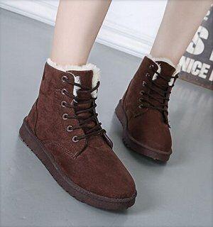 Ботинки бархатные