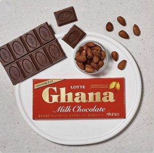LOTTE «GHANA MILK CHOCOLATE» шоколад молочный ГХАНА, 70 гр.