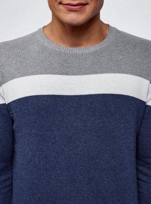 Джемпер хлопковый c контрастной полосой