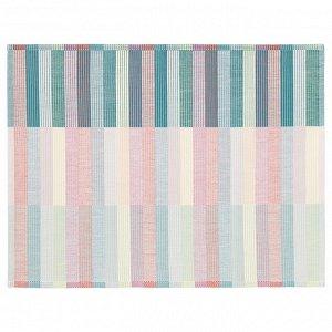 MITTBIT МИТТБИТ | Салфетка под приборы, розовый бирюзовый/светло-зеленый | 45x35 см