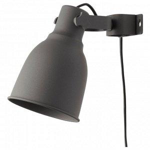 HEKTAR ХЕКТАР   Настенный софит/лампа с зажимом, темно-серый