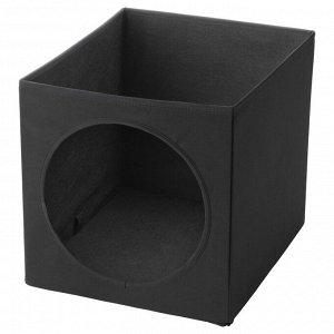 LURVIG ЛУРВИГ   Домик для кошки, черный   33x38x33 см